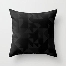 Random Triangles Greyscale Throw Pillow
