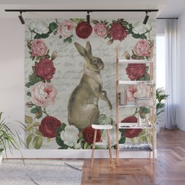 Vintage Easter Bunny Wall Mural