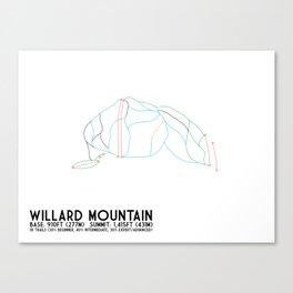 Willard Mountain, NY - Minimalist Trail Art Canvas Print