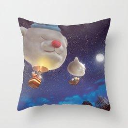 SmileDog Balloon Throw Pillow