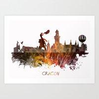 poland Art Prints featuring Cracow Poland by jbjart