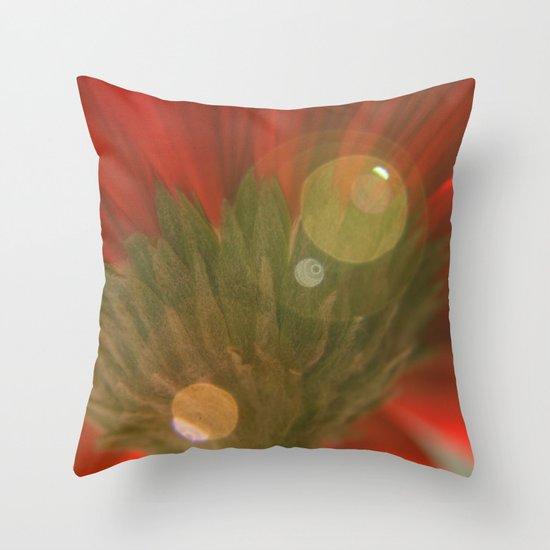 Green Stem Throw Pillow