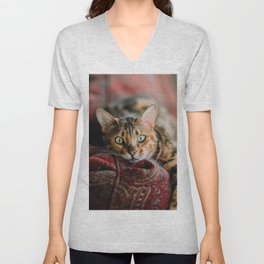 Cat eyes Unisex V-Neck