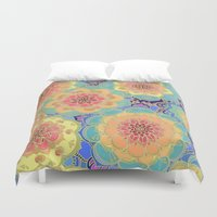 samsung Duvet Covers featuring Obsession by micklyn