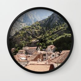 Morning in Montenegro Wall Clock