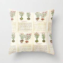 Ancient Plant Watercolour illustration Throw Pillow