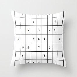 Sudoku Series: Medium Level - Mono Throw Pillow