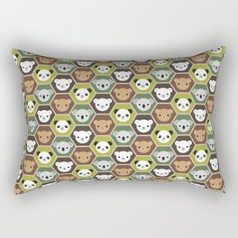 Kawaii Autumn Bears Rectangular Pillow