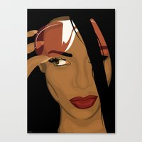 aaliyah Canvas Prints featuring Aaliyah by Tloweart