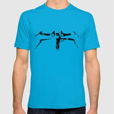 X-wing Teal MEDIUM Mens Fitted Tee