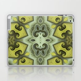Yellow Insectoid Square Laptop & iPad Skin