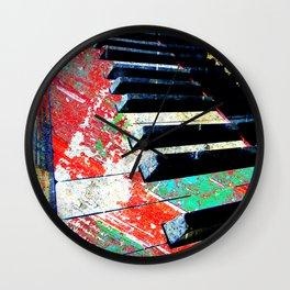 Piano Artwork Wall Clock