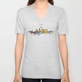 San Antonio Skyline Silhouette Unisex V-Neck