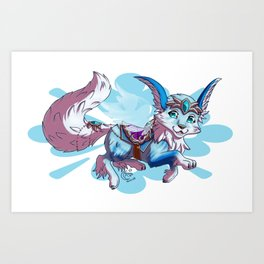 Vulpine mount Art Print