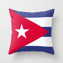 Cuba flag emblem Throw Pillow