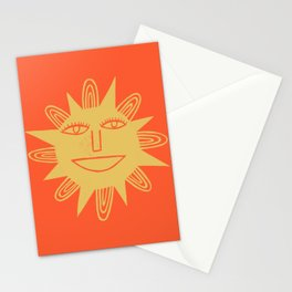 Cheerful Happy Sunshine Numero 3 Red Stationery Cards