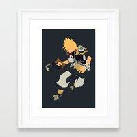kingdom hearts Framed Art Prints featuring Kingdom Hearts - Ventus by TracingHorses
