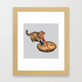 Laser-Eyed Kitten with a Mitten Framed Art Print