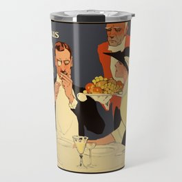 Berlin retro 1920 Plakatstil Fledermaus wine restaurant advertisement Travel Mug
