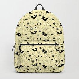 Cute cartoon birdies, simple animal illustration Backpack