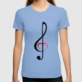 Heart music clef T-shirt