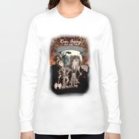rock n roll Long Sleeve T-shirts featuring Rock 'N' Roll Circus by Melissa Morrison