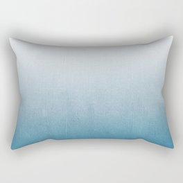 Urva - ombre indigo blue watercolor abstract minimalist home decor painting Rectangular Pillow
