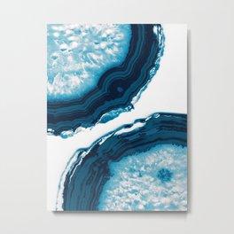 Blue Agate #1 #gem #decor #art #society6 Metal Print