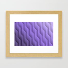 Gradient Purple Diamonds Geometric Shapes Framed Art Print