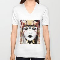 tribal V-neck T-shirts featuring Tribal by Sonya Parra