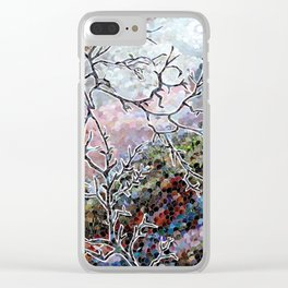 Wolf Tree Clear iPhone Case