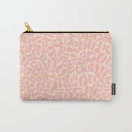 Leopard Print | Pastel Pink Girly Bedroom Cute | Cheetah texture pattern Carry-All Pouch