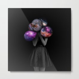 space balloons Metal Print