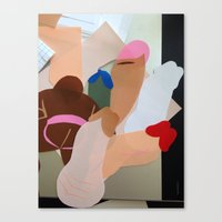 penis Canvas Prints featuring Penis Collage by vooduude