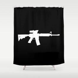 M4 Assault Rifle Shower Curtain