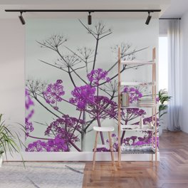 WILDFLOWERS in RED Wall Mural