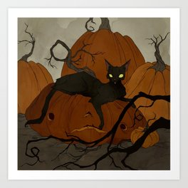 The Pumpkin Patch Art Print