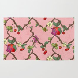 Cherries and Vine Rug