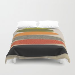 Mid-Century Modern Ovals Abstract Duvet Cover