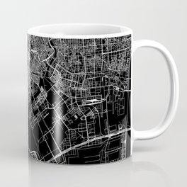 Tokyo Black Map Coffee Mug