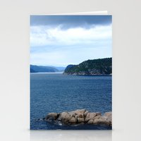 norway Stationery Cards featuring Landscape Norway by Christine baessler