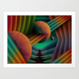Planet Path Art Print