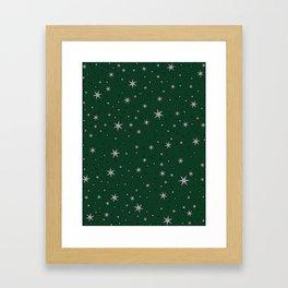 Slytherin Chapter Stars Framed Art Print