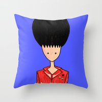rockabilly Throw Pillows featuring rockabilly by Luana Rios