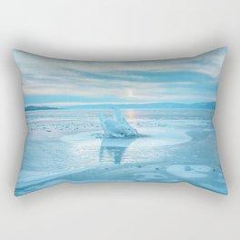 The Strange Ice Circle of Baikal Rectangular Pillow