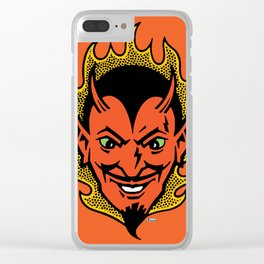 The Devil Made Me Do It Clear iPhone Case
