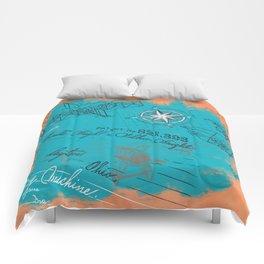Retro flying Comforters