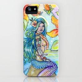Tropical Caribbean Mermaid iPhone Case