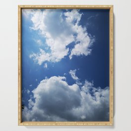clouds/approaching Serving Tray