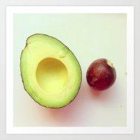 avocado Art Prints featuring Avocado by Leigh Eldridge